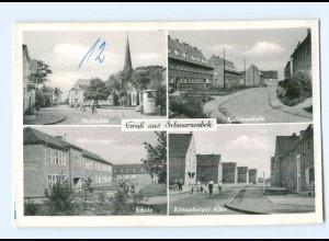 T8950-2053/ Schwarzenbek Kolbergstr., Schule, AK ca.1955-60