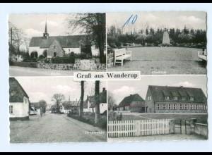 T8758-2391/ Wanderup Schule, Hauptstr. AK ca.1955-60