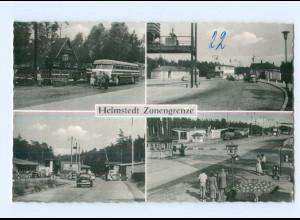 T9162-3330/ Helmstedt Zonengrenze DDR Grenze Omnibus AK ca.1960