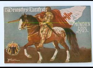 Y7124/ München 13. Dt. Turnfest Offizielle-Fest-AK 1923