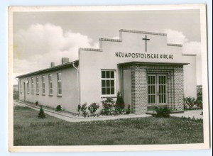 Y10434/ Achim Bez.Bremen Bergstr. 36 Neuapostolische Kirche Foto AK ca.1955