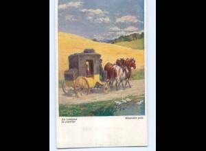 Y7110/ Postkutsche Landpost Künstler AK Wesemann Wiener Kunst ca.1912