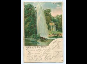 Y7111/ Kassel Wilhelmshöhe Die große Fontaine Litho AK 1902