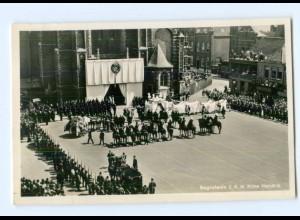 T9681/ Prinz Hendrik Beerdigung Trauerfeier Foto AK 1934 Niederlande