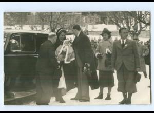 T9686/ Königin Juliana + Prinz Bernhard mit Baby Niederlande Foto AK ca.1940