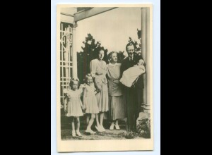 T9689/ Königin Juliana Prinz Bernhard +Kinder in Kanada Niederlande Foto AK 1943