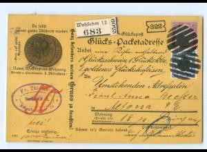 Y7133/ Glückspost Münzen Litho AK 1901