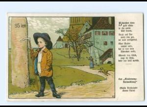 Y7134/ Kindersang-Heimatklang Litho AK KInderlieder Verlag: J. Scholz