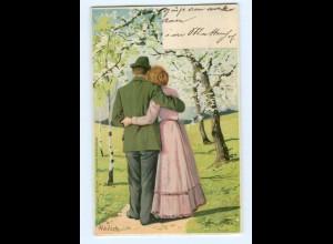 T9733/ Mailick Litho AK junges Paar 1902