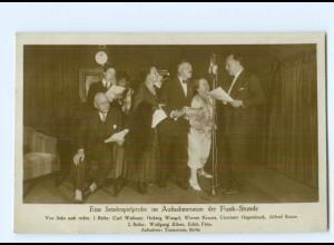 U362/ Radio Sendeprobe im Aufnahmeraum der Funk-Stunde Foto AK 1927
