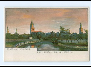 Y7465/ Gruß aus Hannover schöne Litho AK ca.1900