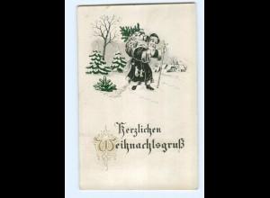 Y7451/ Weihnachten Weihnachtsmann Prägedruck xa.1912