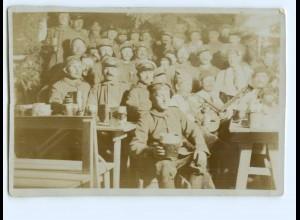 Y11801/ Fasching im Felde 1916 Rußland Soldaten Foto 14,5 x 9,8 cm 1.Weltkrieg