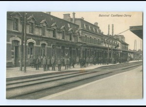 Y7846/ Bahnhof Conflans-Jarny AK Frankreich 1. Weltkrieg