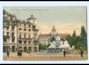 Y7856/ München Lenbachplatz, Ausstellung d. Bayer. Metall-Industrie AK 1922