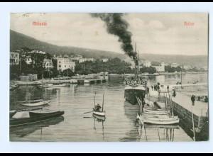 U834/ Abbazia Hafen Kroatien AK 1910