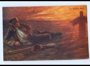 U866/ Verwundeter Soldat In Gottes Hand Jesus 1. Weltkrieg AK ca.1915