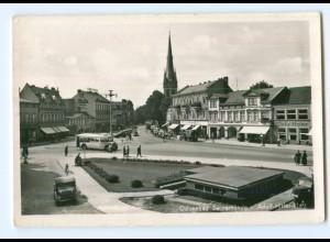 U1140/ Swinemünde Adolf-H-Platz Foto AK Omnibus ca.1938