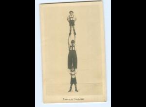U1378/ Familie Urbani Artisten Variete Zirkus Foto AK Fotomontage ca.1930