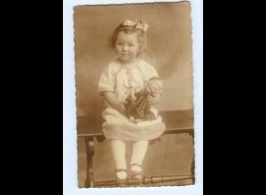 Y7983/ Mädchen mit Puppe schöne Foto AK ca. 1925