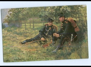 Y9060/ Schützen Soldaten AK nach dem Gemälde v. Prinzessin Mathilde v. Sachsen