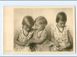 Y7708/ Mädchen spielen mit Puppen Foto AK ca.1935