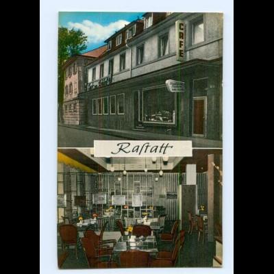 Y7875/ Rastatt Café am Schloß AK