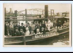 Y7799/ Hamburg Hafen-Rundfahrt Barkasse Foto AK 1938