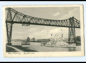 Y7797/ Rendsburg Hochbrücke Schwebefähre Kriegsschiff AK 1938
