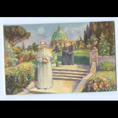 Y8801/ Der Heilige Vater in den Gärten des Vatikans Papst AK