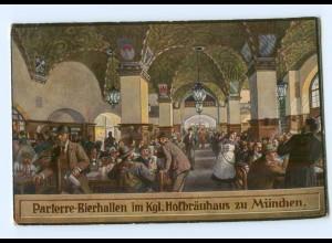 Y7866/ München Parterre-Bierhallen im Kgl. Hofbräuhaus AK