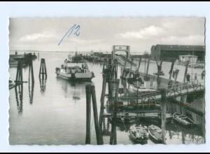 Y7912/ Glückstadt Außenhafen und Fähre AK