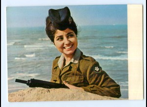 Y8810/ Girl - Soldier of the Israel Defence Forces AK 1970