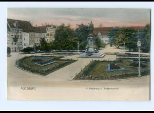 Y8064/ Augsburg K. Regierung u. Siegesdenkmal AK