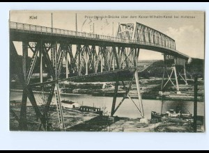 Y8191/ Kiel Prinz-Heinrich-Brücke bei Holtenau AK 1917