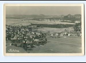 U1289-018./ Schöna bei Bad Schandau Foto AK 1957