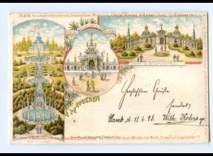 Y8130/ Teruren Tervueren Litho AK Belgien 1898