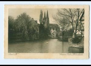 Y8096/ Soest Großer Teich und Wiesenkirche 1931 AK