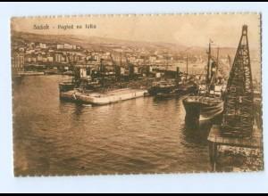 Y8386/ Susak Hafen Kroatien AK 1927