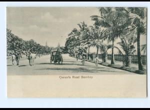 Y8206/ Bombay Quenn`s Road Indien AK ca.1910