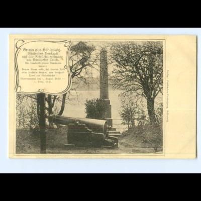 Y8202/ Schleswig Dänisches Denkmal auf der Friedrichschanze AK ca.1912