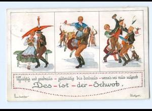 Y8199/ Des ist der Schwob Hans Boettcher AK Trachten ca.1928