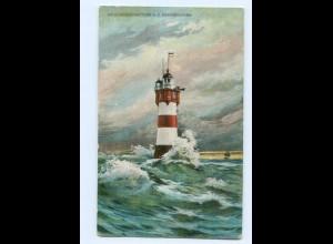 Y8198/ Rothesand Leuchtturm Wesermündung AK 1916
