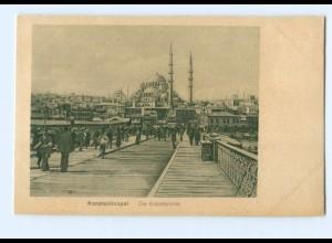 Y8194/ Konstantinopel Galatabrücke Türkei AK 1918