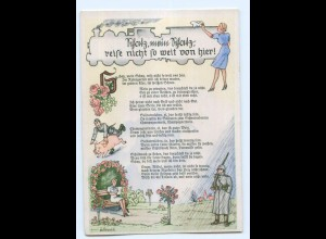 Y8213/ Lieder AK Schatz, mein Schatz .... Soldat Militär ca.1938
