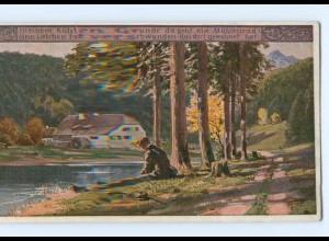 Y8343/ Paul Hey AK Volksliederkarte Nr. 12 Verein für das Deutschtum