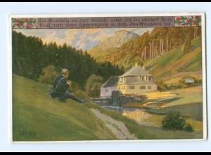 Y8338/ Paul Hey AK Volksliederkarte Nr. 68 ca.1920