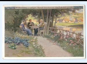 Y8337/ Paul Hey AK Volksliederkarte Nr. 87 ca.1920