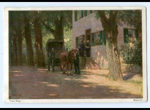Y8346/ Paul Hey AK Besuch Kutsche ca.1920