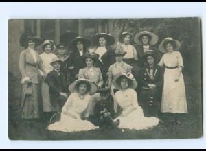 Y8359/ Frauen mit Hut schöne Privat Foto AK 1912